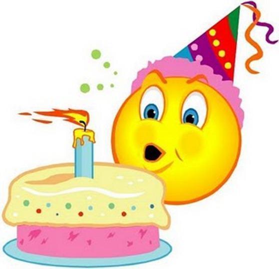 Поздравления смайликами с днем рождения