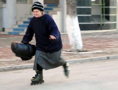 Шустрая старушка и ДТП в Одессе