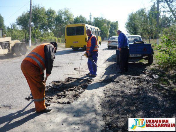 ремонт дороги в Арцизе