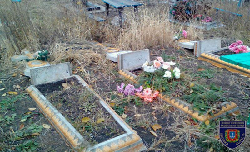 В селе Маяки подростки во время празднования Хэллоуина повредили 38 могил