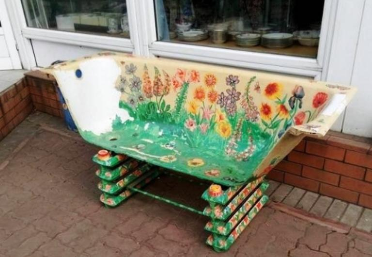 скамейка-ванна