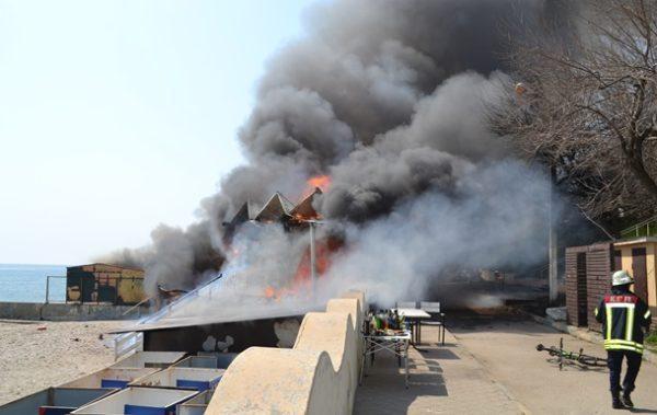 пожар одесса ресторан