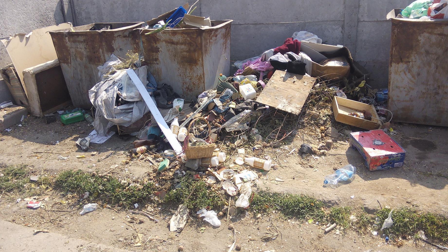 площадка для сбора мусора