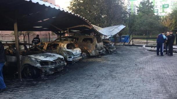 сгоревшие авто
