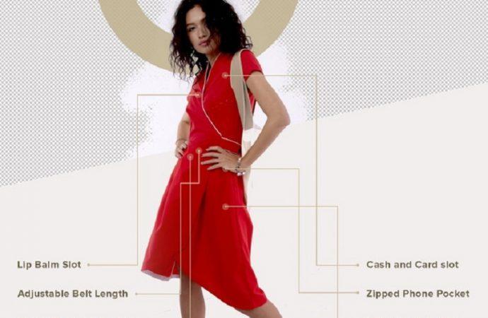 пластиковое платье