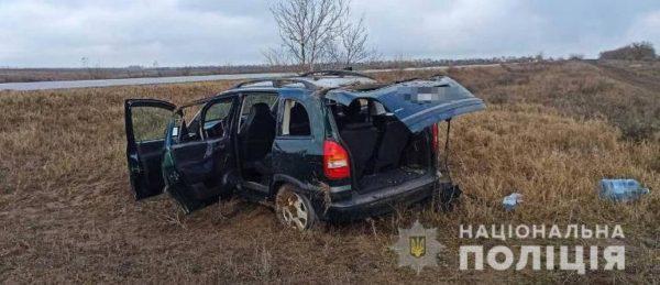 На трассе Одесса-Рени Opel вылетел в кювет — погибла 71-летняя женщина, двух детей госпитализировали