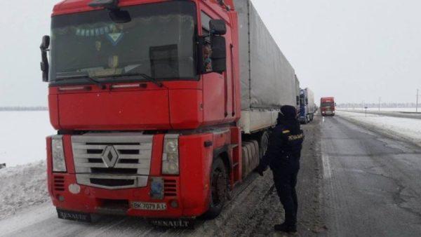 На дороге Киев-Одесса образовалась 30-киллометровая пробка