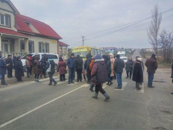 В Одесской области уже второй раз за день митингующие перекрывают трассу