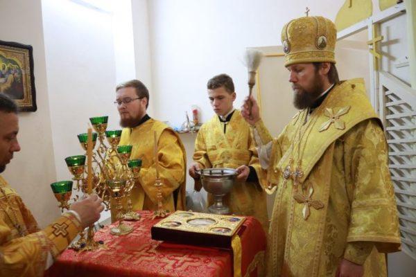 Сергей епископ Болградский освятил храм святой Анастасии Узорешительницы В Измаильском СИЗО