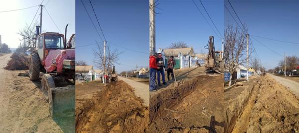 В селе Главани Арцизской громады идет замена водопроводных труб