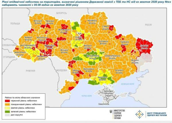 В Одесской области во избежание введения «красной зоны» во всем регионе группируют статистику по громадам
