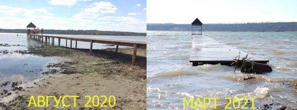Озеро Ялпуг вновь стало полноводным