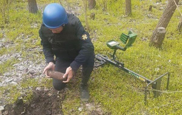 В Татарбунарском районе уничтожили артиллерийский арсенал снарядов