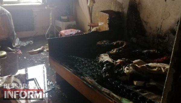 В Белгород-Днестровском произошел пожар в квартире, по причине неисправной электропростыни