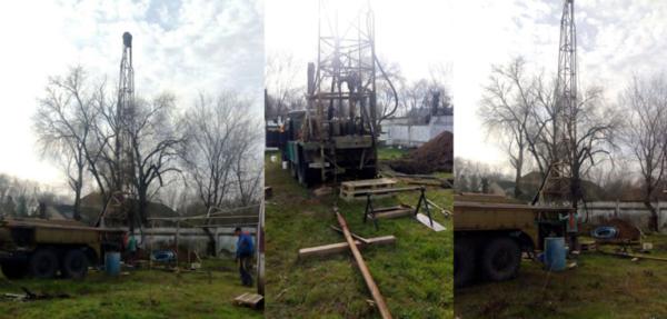 В с. Долиновка Павловской громады бурят новую артезианскую скважину