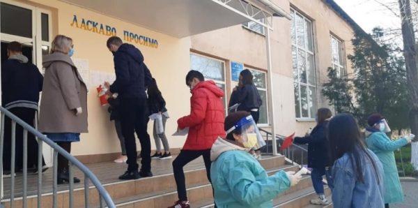 На базе Арцизской школы выпускники школ сдавали пробное ВНО