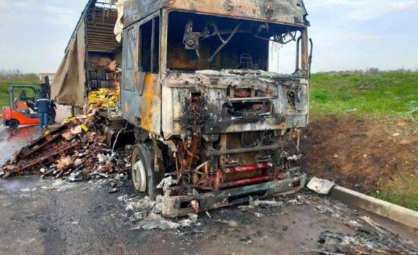 В Одесской области сгорел грузовик с вином
