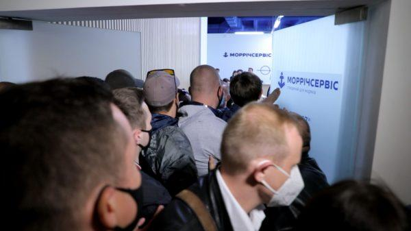 В Одессе снова прошел протест моряков