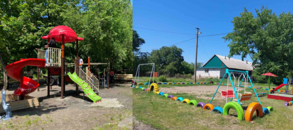 В Арцизе восстанавливают детские площадки (ФОТО)