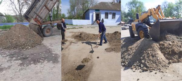 В селе Арцизской громады провели текущий ремонт одной из центральных улиц.