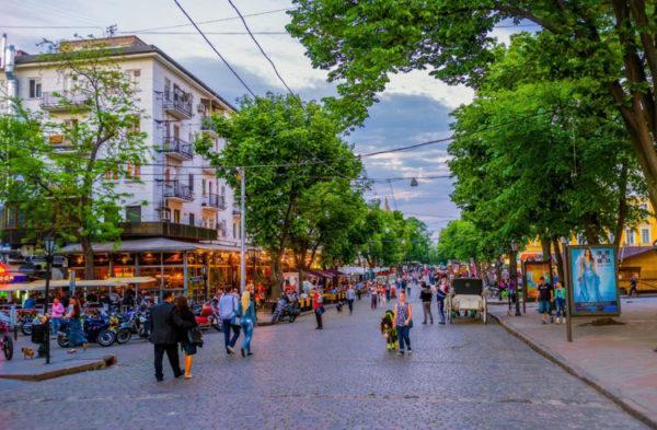 В Одессе создаётся самая большая в Украине пешеходная зона