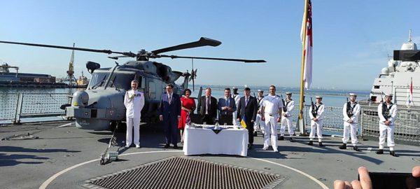 В Одесском порту  состоялась церемония подписания меморандума о реализации проектов морского партнёрства между Украиной и Великобританией