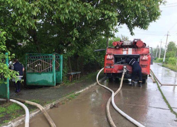 В Одесской области ливни подтопили приусадебные участки