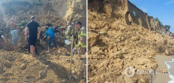 В Одесской области спасатели продолжают поиск людей под завалами на пляже