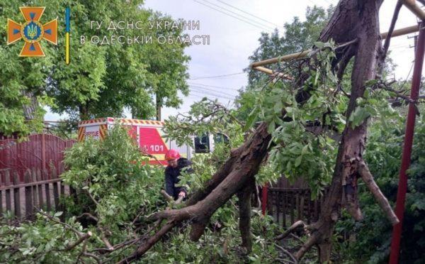 Север Одесской области пострадал от непогоды