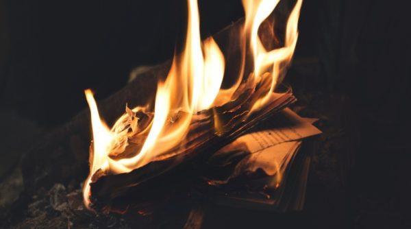 В селе Вилковской ОТГ полыхала библиотека – возгорание ликвидировали несколько часов
