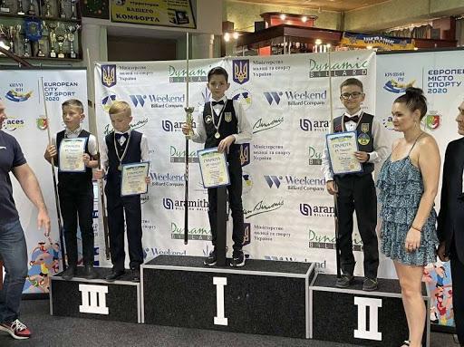 Юный Измаильский  призер одержал золото на престижном  бильярдном турнире