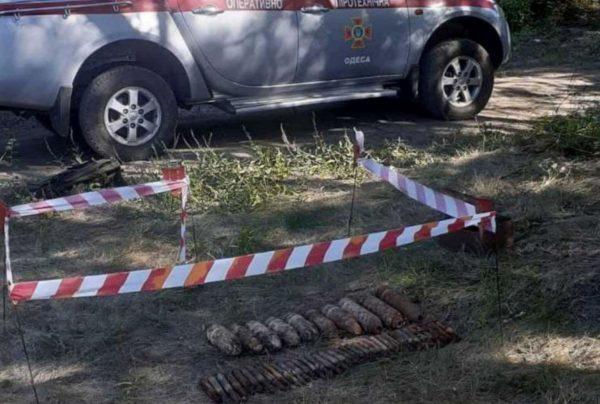 В Одесской области нашли 30 артснарядов времен второй мировой войны