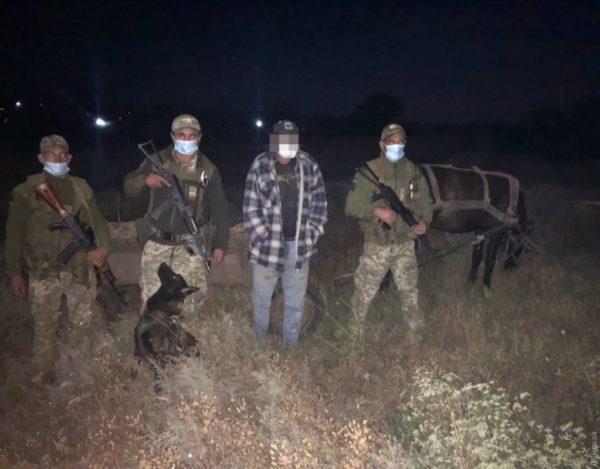 В Одесской области задержали иностранца, который незаконно пересек границу на телеге