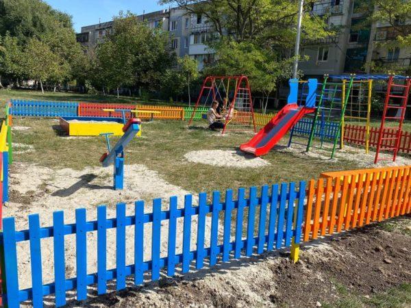 В Арцизе введена в эксплуатацию уже 9-я новая детская игровая площадка