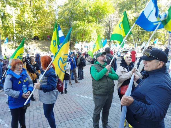 Работники Одесского припортового завода митингуют в Киеве: они требуют разблокировать процесс приватизации предприятия